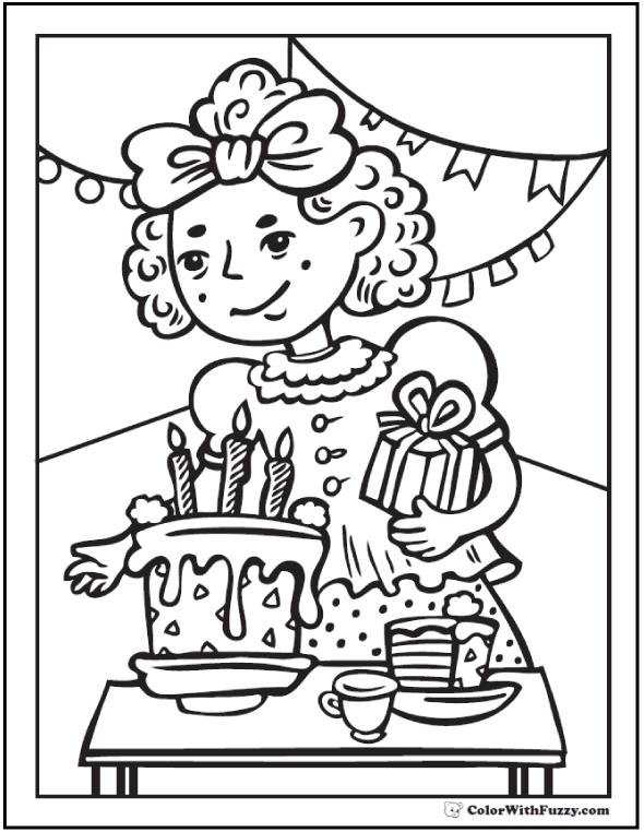 birthday party coloring sheets ; kids-birthday-party-coloring-page