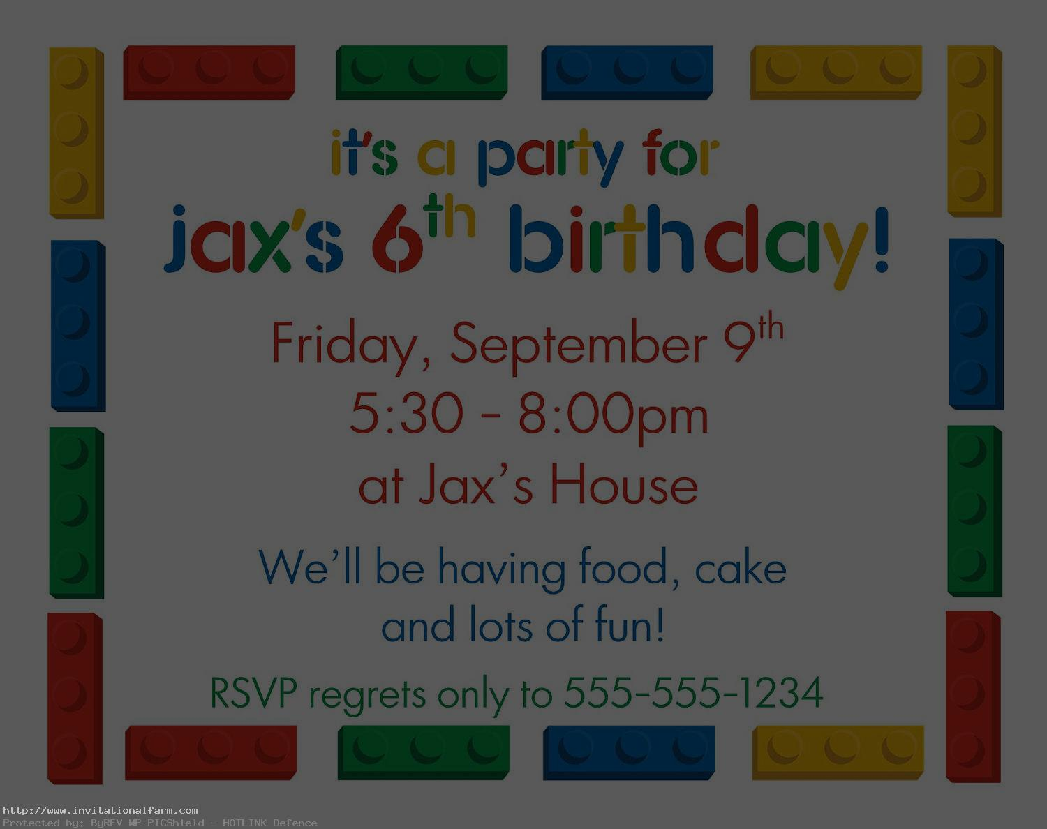 birthday party design templates ; 6th-Kids-Birthday-Party-Invitations-Template