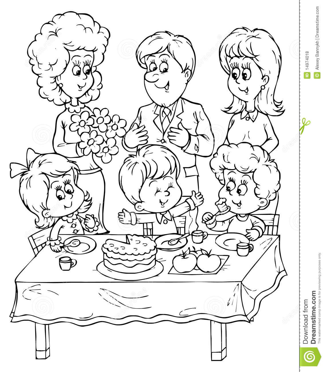 birthday party drawing ; drawing-pictures-of-birthday-party-birthday-party-stock-illustration-image-of-mood-festive-14974018