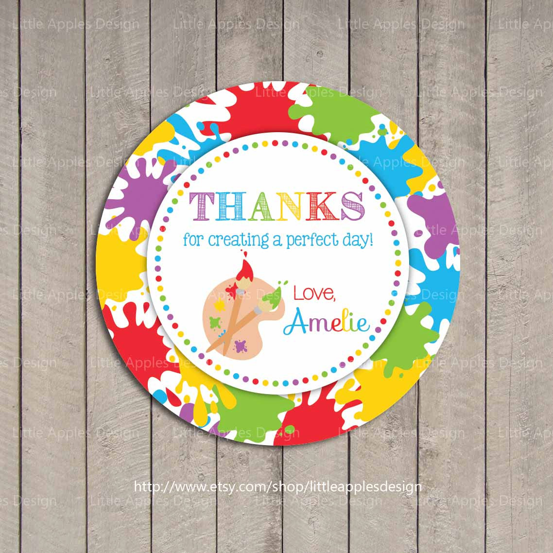 birthday party favor tags printable ; il_fullxfull