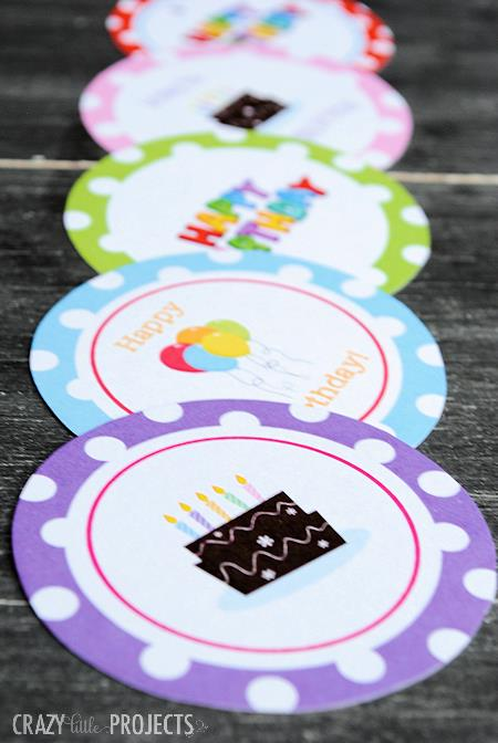 birthday party favor tags printable free ; Freebirthdaytags