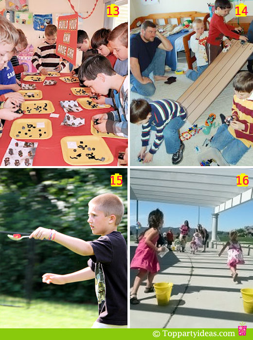 birthday party games and activities ; LegoGames_13to16