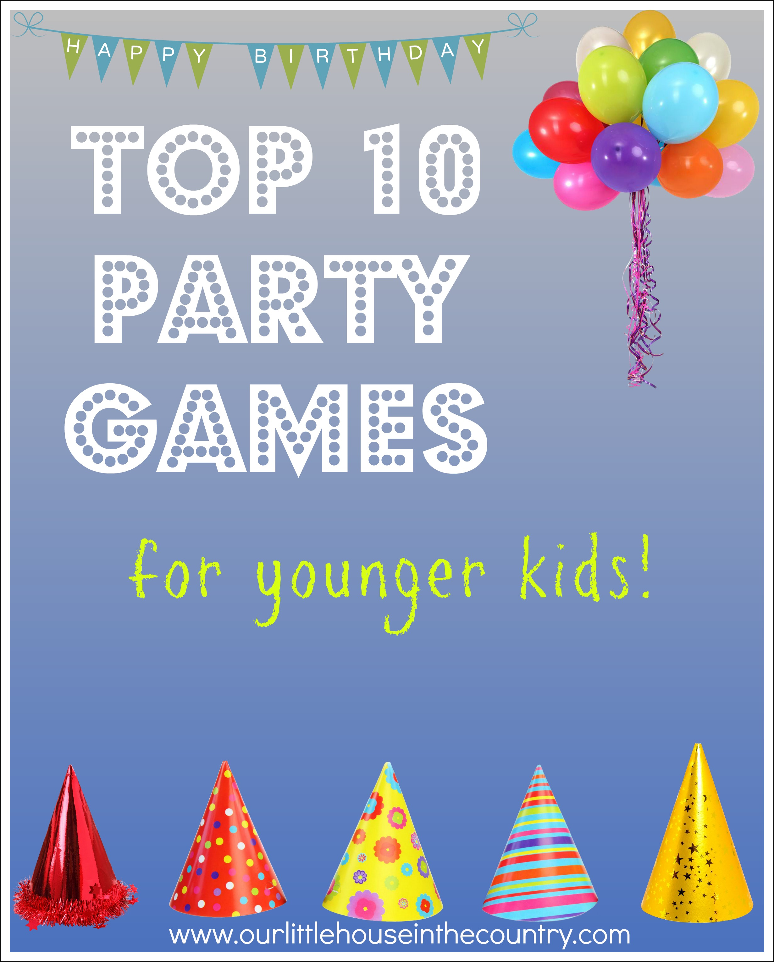 birthday party games and activities ; top-10-party-games
