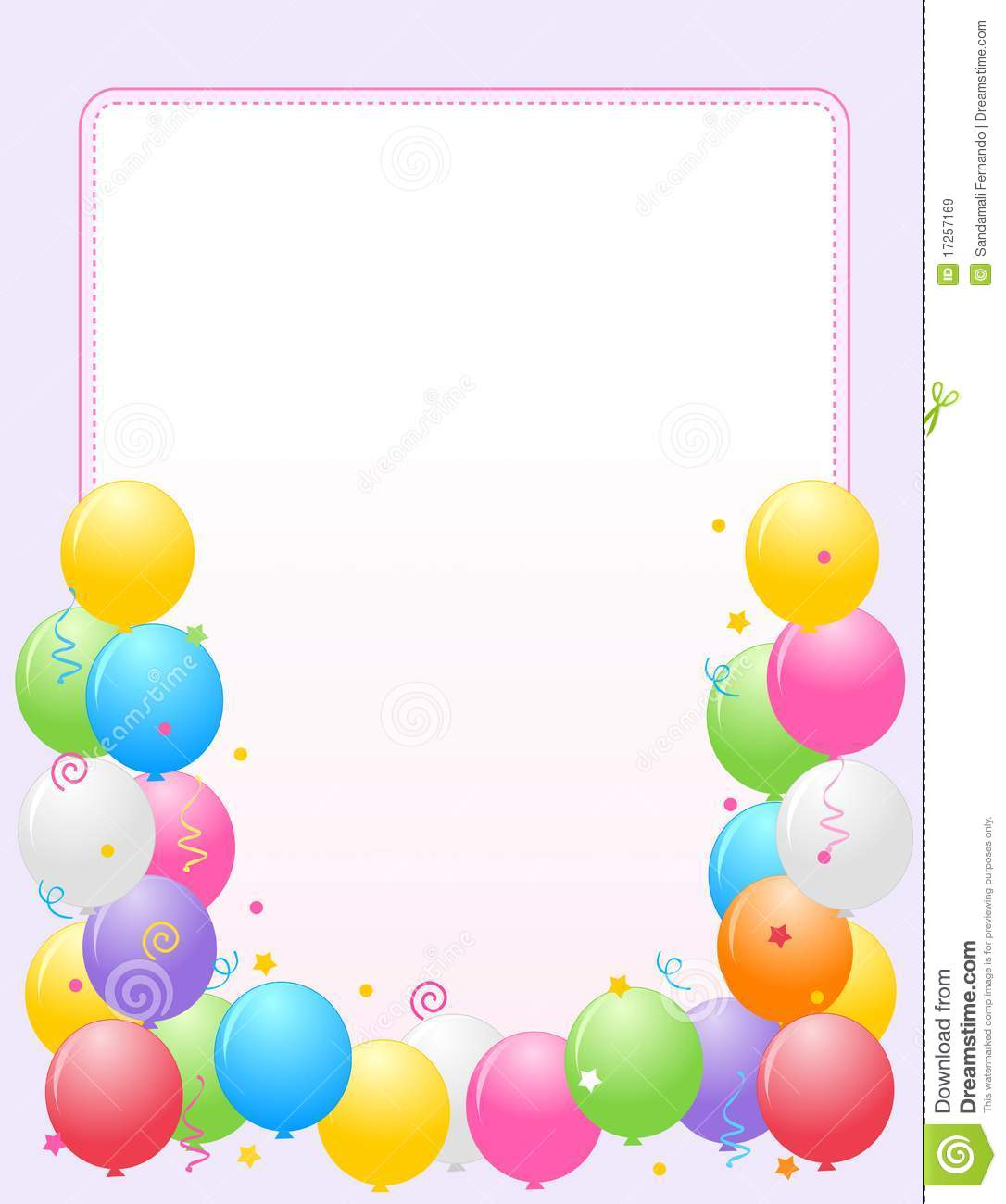 birthday party invitation borders ; colorful-balloons-border-party-frame-17257169