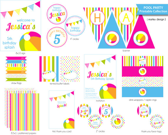 birthday party labels ; 948a2ade169339856a68623e893a150f