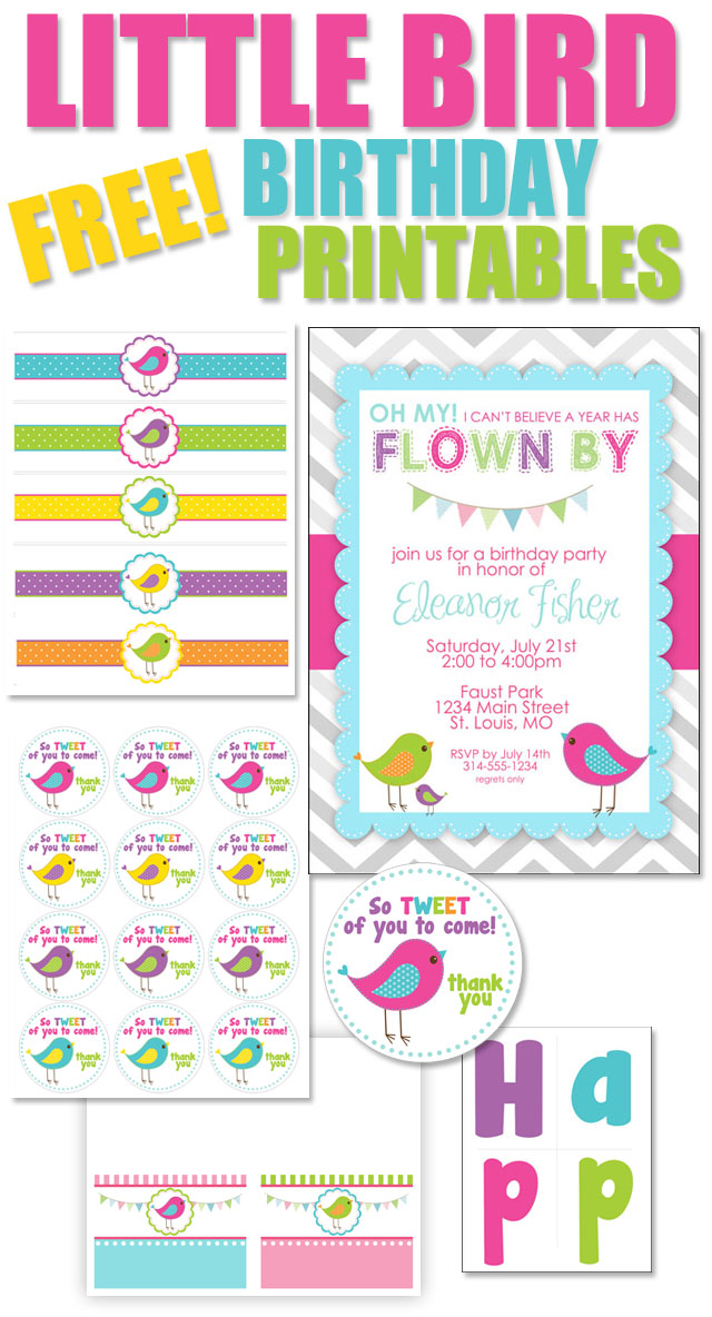 birthday party labels ; FREE-BIRD-BIRTHDAY-PRINTABLES