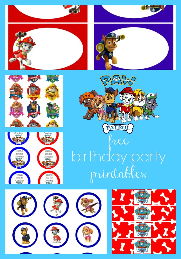 birthday party labels ; Paw-Patrol-Free-Birthday-Party-Printables