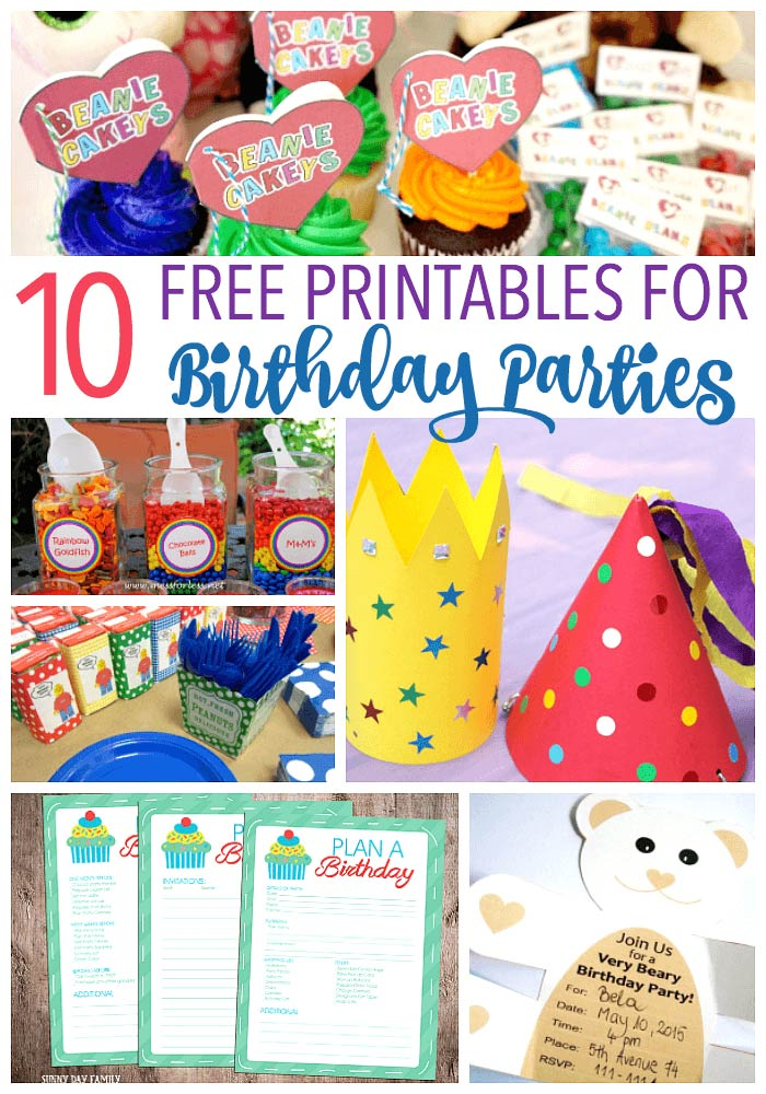 birthday party labels ; birthday-party-printables