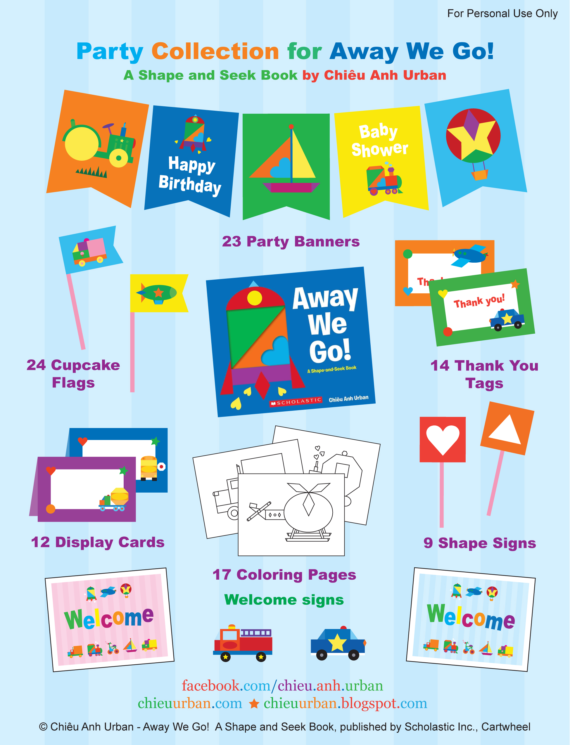 birthday party labels free ; Away-We-Go-Collection-1