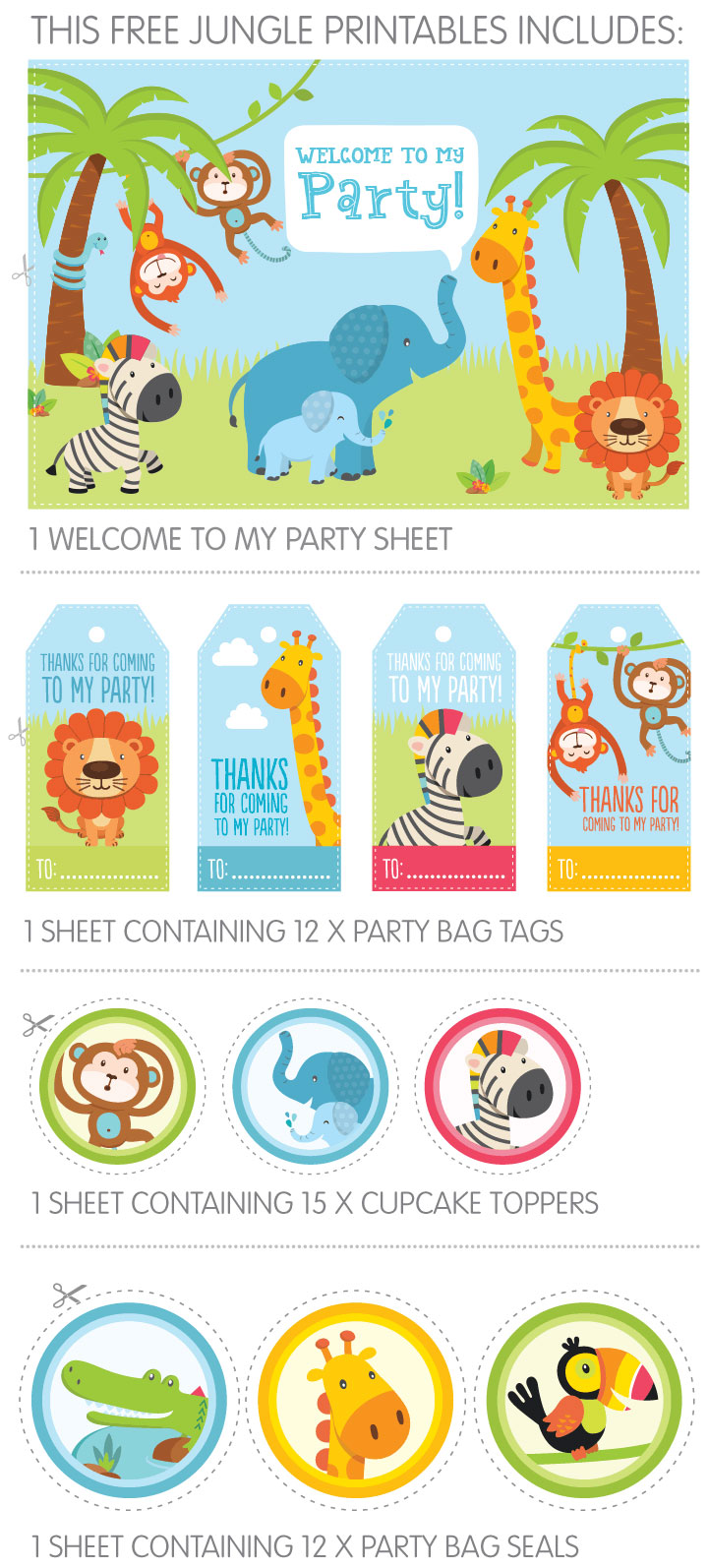 birthday party labels free ; jungle-printables-contains2