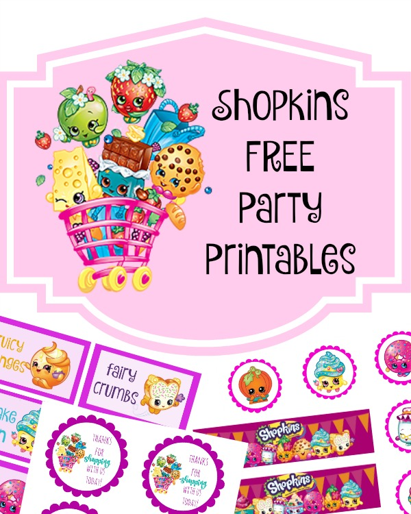 birthday party labels free ; shopkins-party-printables