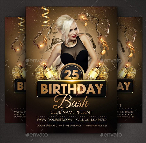 birthday party poster design ; Photoshop-Flyer-Template-For-Birthday-Party-6