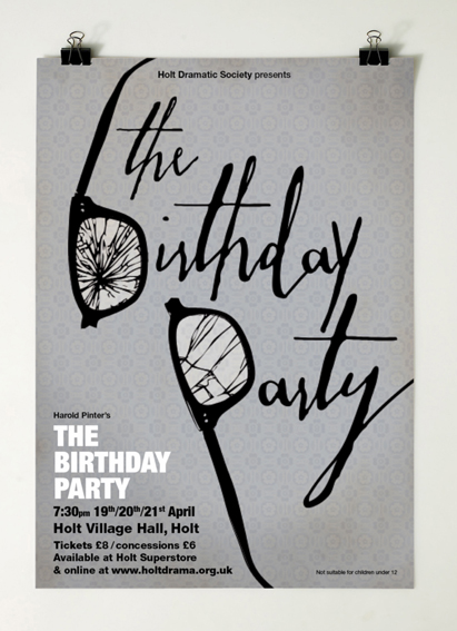 birthday party poster design ; TBP_shot