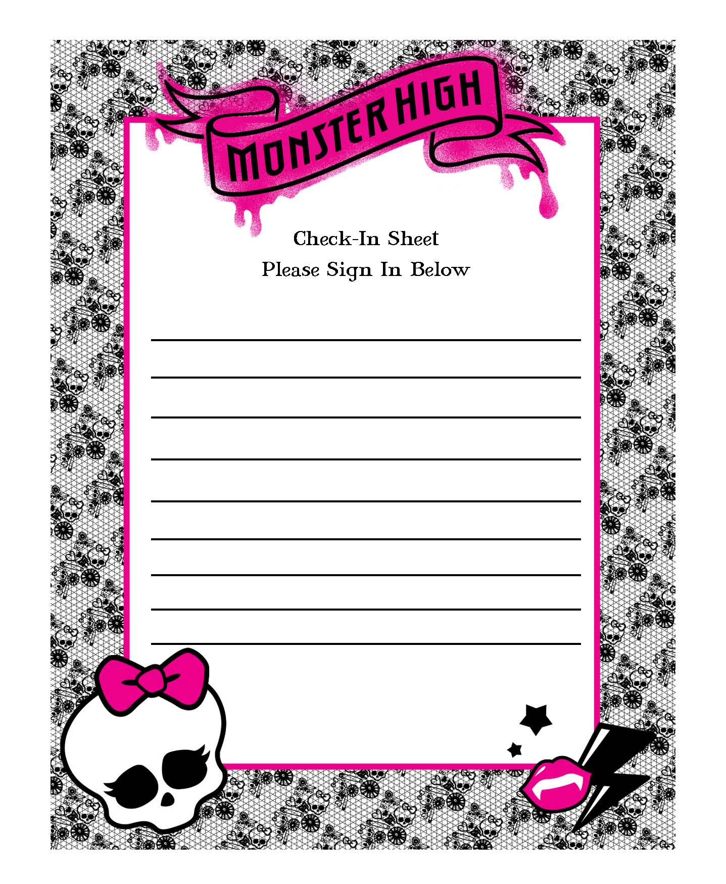 birthday party sign in sheet ; 474949bd59182d72efb058e62090cddb