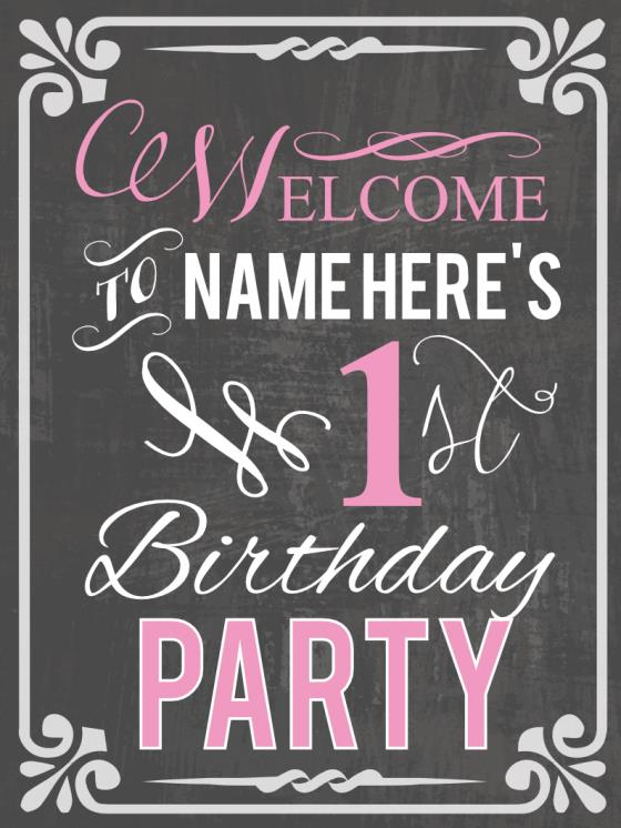 birthday party signs ; 25c283a3fa5d25668abc5d47bdf9bd27