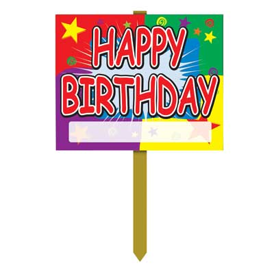 birthday party signs ; 55911
