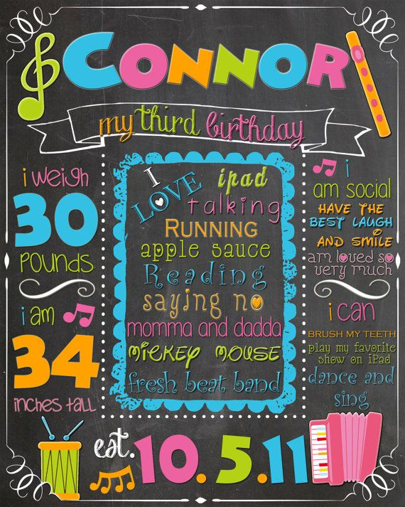 birthday party signs ; 957c29f408fe69eb514ed8422e35dd93--birthday-music-chalkboard-signs