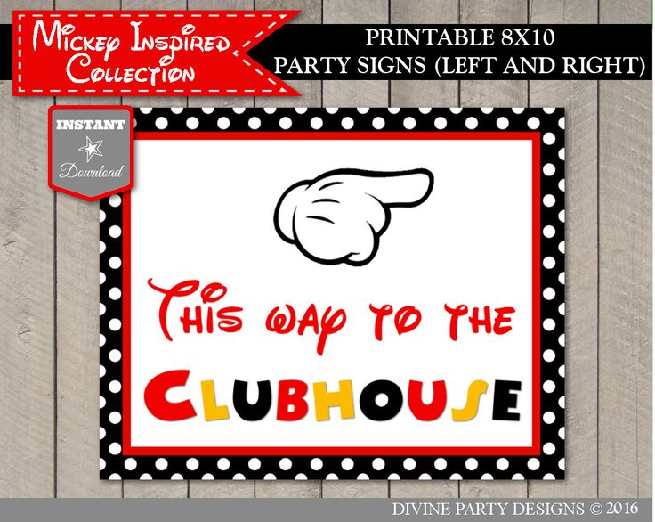 birthday party signs ; e24e6dc8f7b6addab9e5abe92838f34f--direction-signs-mickey-mouse-birthday