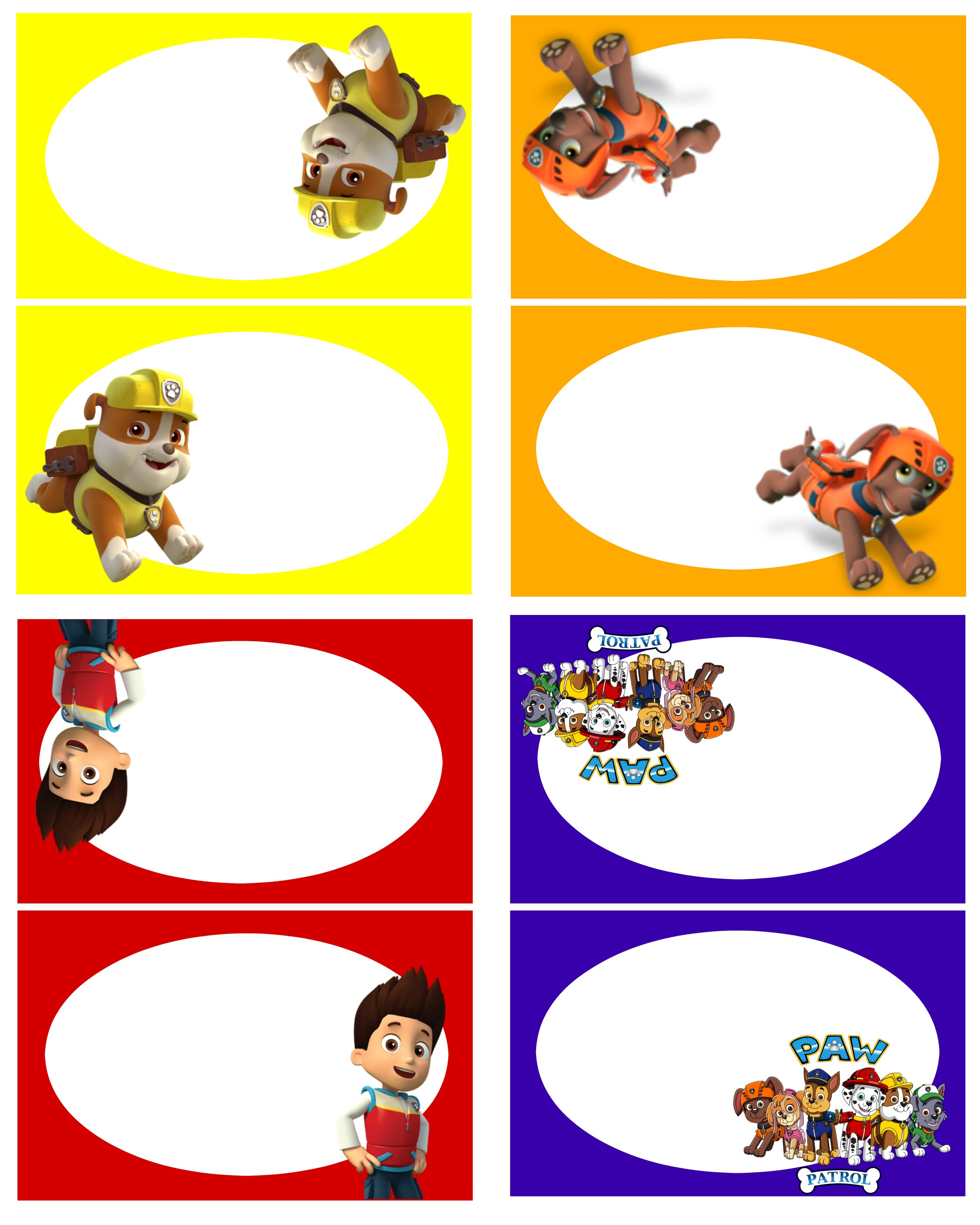 birthday party stickers printables ; Paw-Patrol-Food-Labels-2