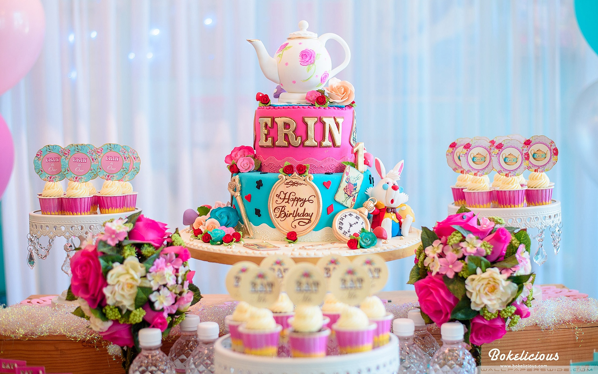 birthday party wallpaper ; birthday_party_cake_and_cupcakes-wallpaper-1920x1200
