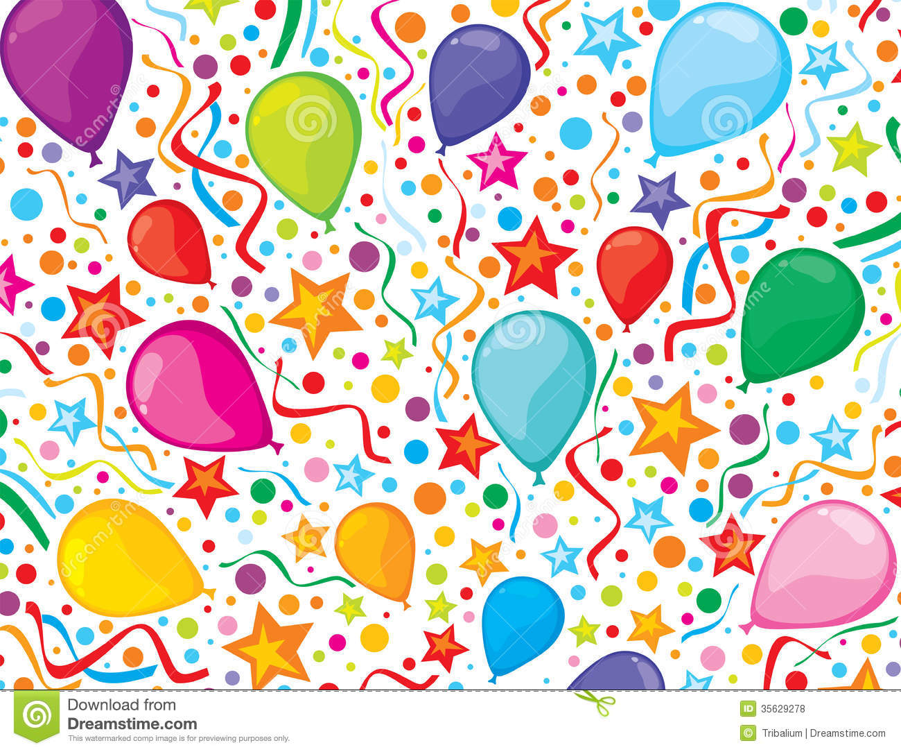 birthday party wallpaper background ; birthday-background-party-streamers-confe-colorful-balloons-design-childrens-design-kids-35629278