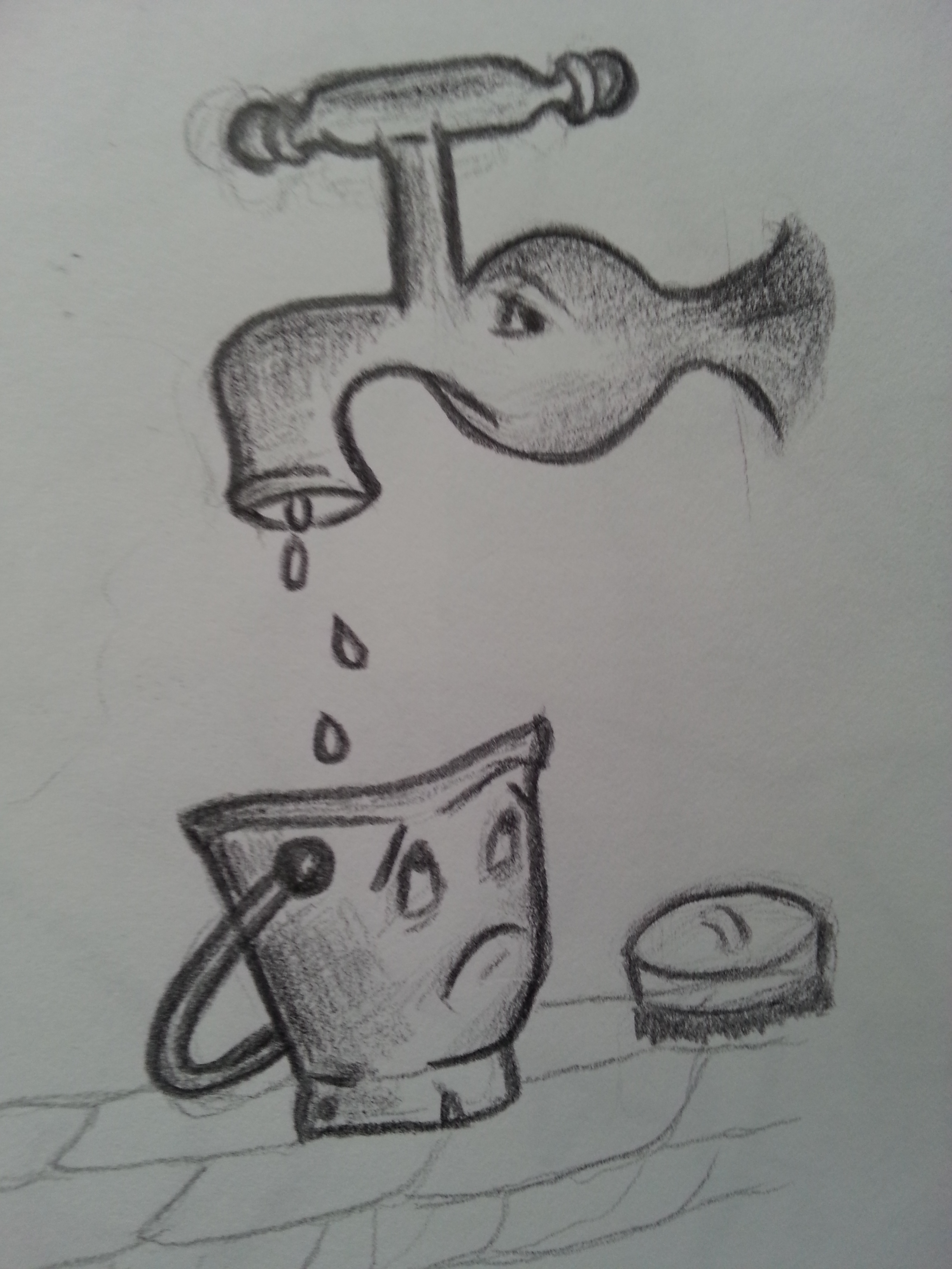 birthday pencil drawing ; pencil-drawings-about-saving-water-a-quick-sketch-of-my-czech-friend-on-his-birthday-wishing
