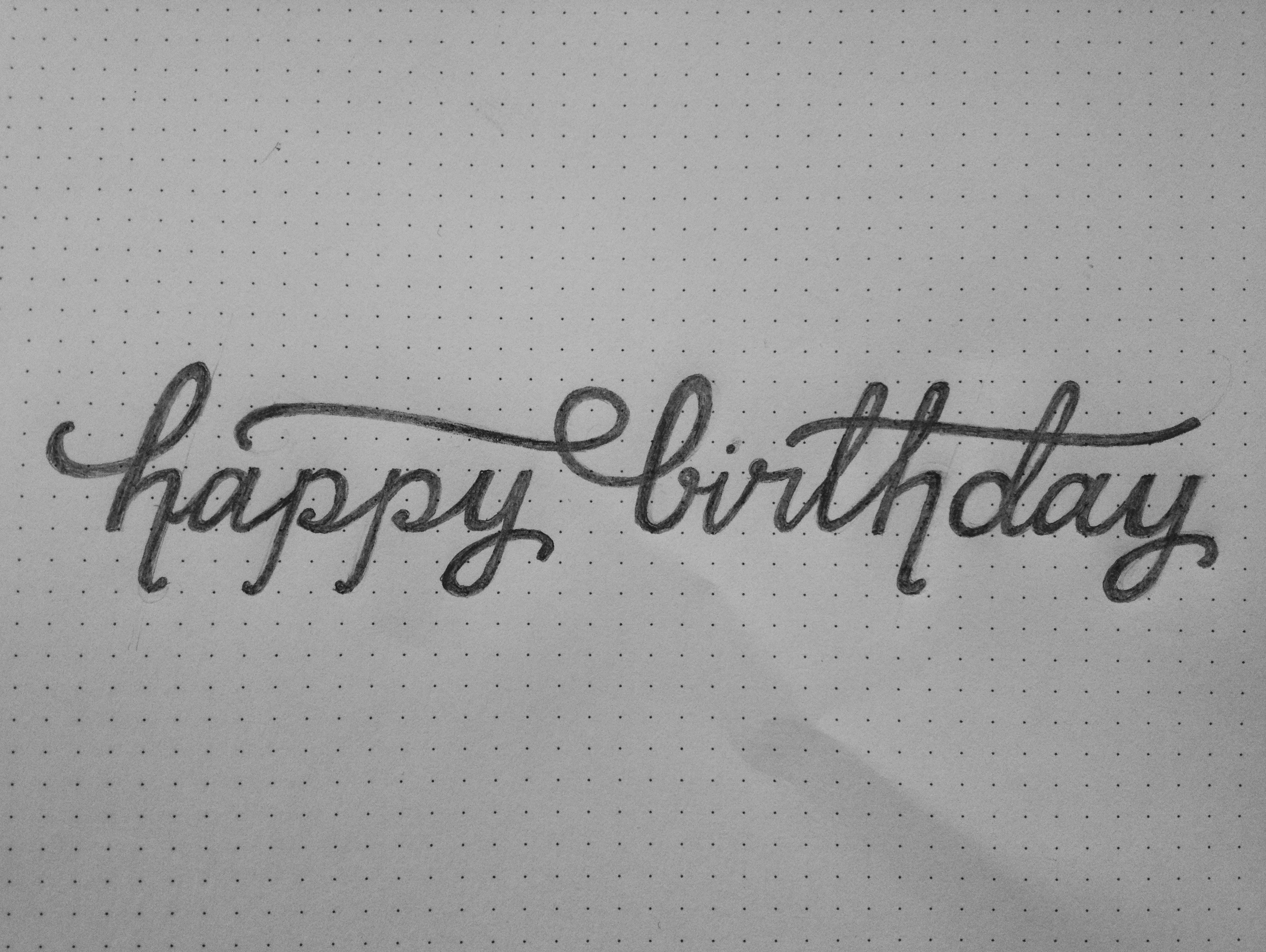 birthday pencil drawing ; pencil-sketches-for-birthday-happy-birthday-pencil-sketch-06-21-13-handwriting-pinterest