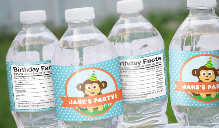 birthday personalized labels ; WaterBottleLabels_3_m
