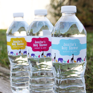 birthday personalized labels ; mod-zoo-personalized-water-bottle-stickers