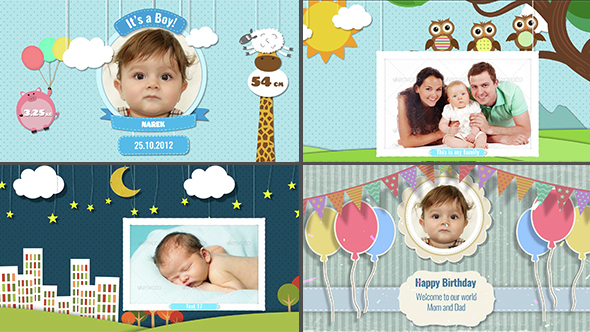 birthday photo album design templates ; Baby%2520Photo%2520Album%2520590x332