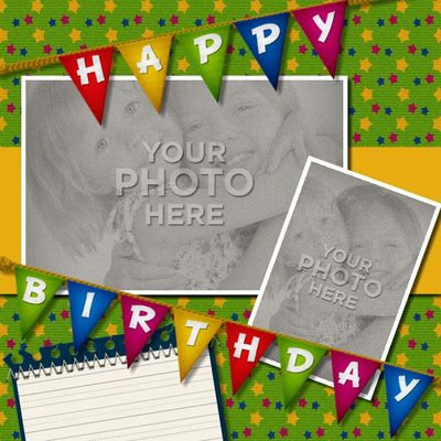 birthday photo album design templates ; Birthday_Bash_Template-003