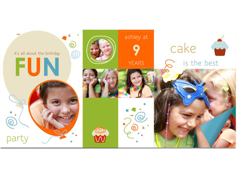 birthday photo album design templates ; screenshot