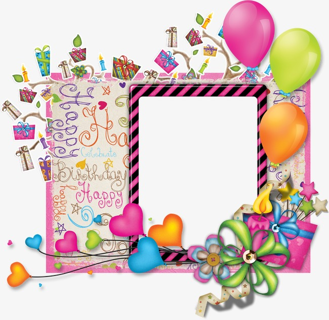 birthday photo frame png ; 2756a882f6151d4