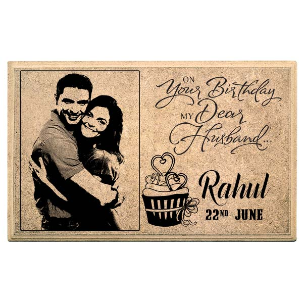 birthday photo frames online india ; Happy_Birthday_Hubby_Personalised_Plaque_WPBDY003_a6329bc3