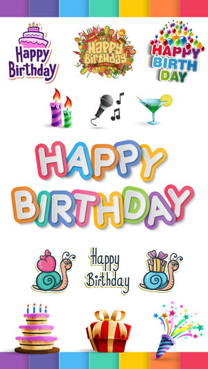 birthday photo stickers ; 300x0w