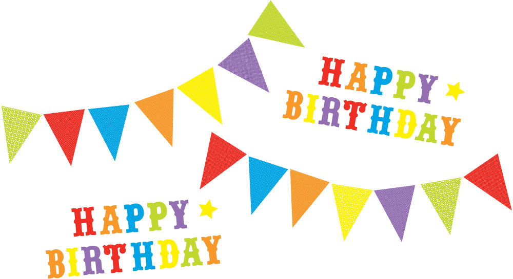 birthday photo stickers ; happy-birthday-bunting-stickers-for-decoarating-for-party-2-TRS