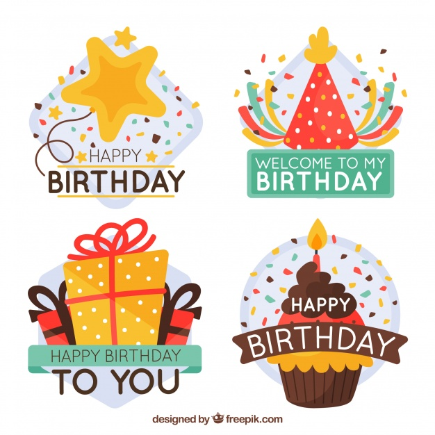 birthday photo stickers ; pretty-birthday-stickers-with-message_23-2147643982