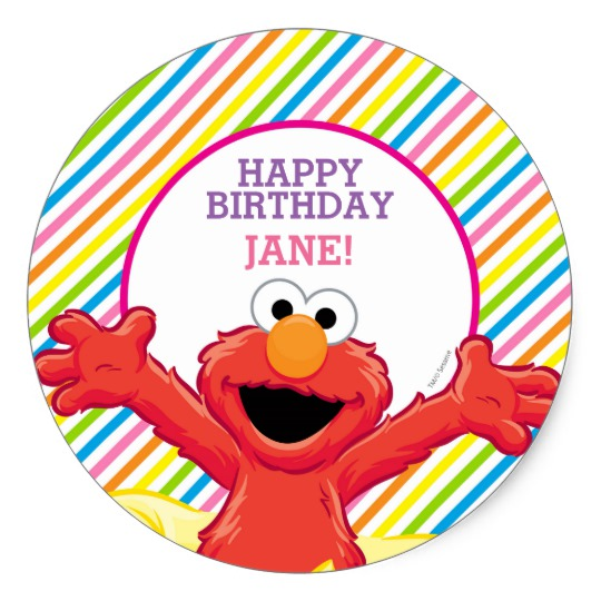birthday photo stickers ; sesame_street_elmo_girls_birthday_classic_round_sticker-r211307c248d8480ea81a171609e1ca90_v9wth_8byvr_540