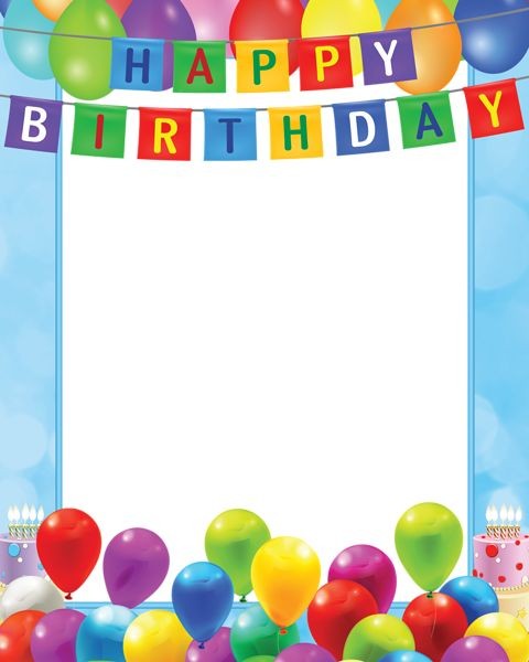 birthday picture frame images ; picture-frame-for-birthday-happy-birthday-transparent-frame-baners-pinterest-happy