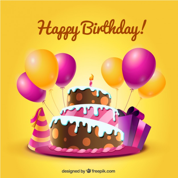 birthday pictures images ; birthday-card-with-cake-and-balloons-in-cartoon-style_23-2147505342