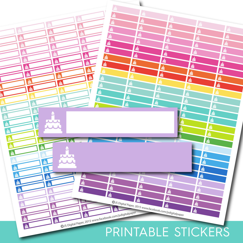 birthday planner stickers printable ; 4972c346ef0e673330375bfd4069d6a2
