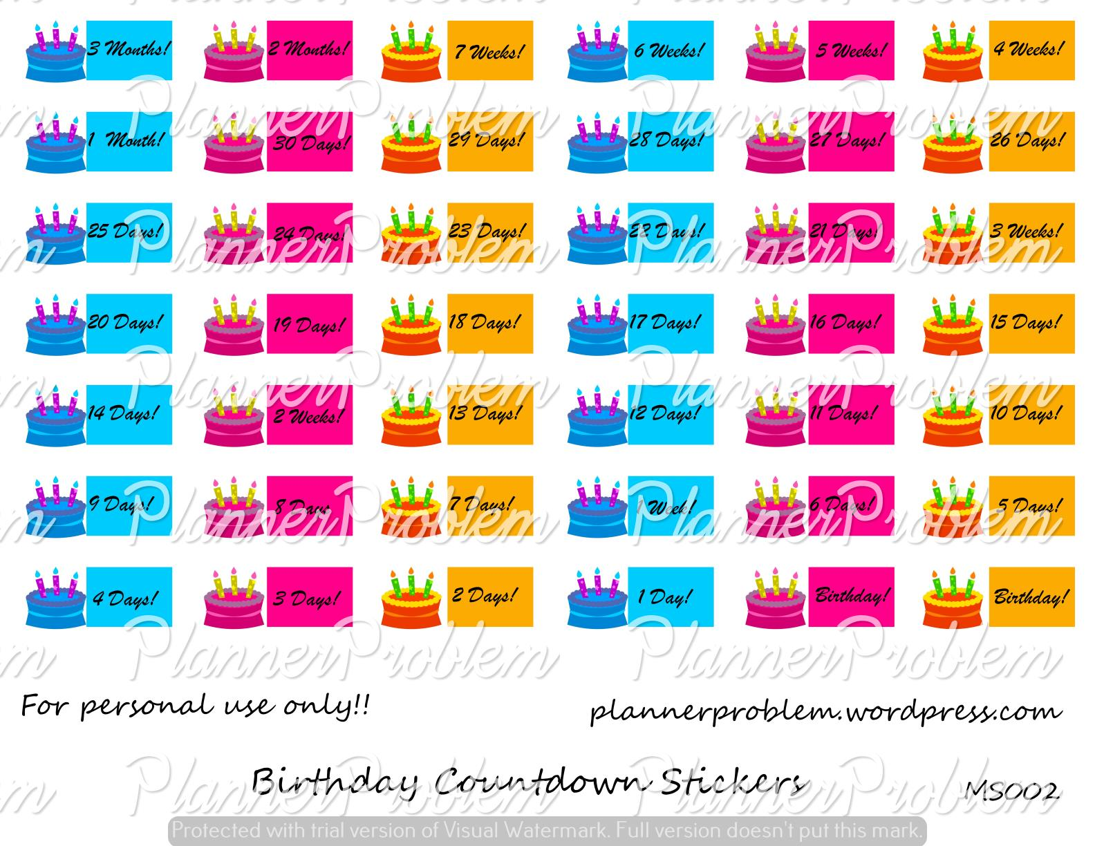 birthday planner stickers printable ; 9fd546480f02ad0576a9e336ef156bef