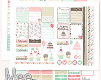 birthday planner stickers printable ; il_340x270