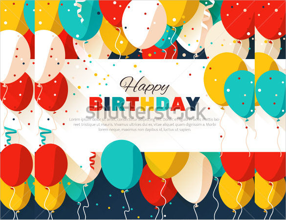 birthday poster design template ; Colorful-Birthday-Poster-Template1