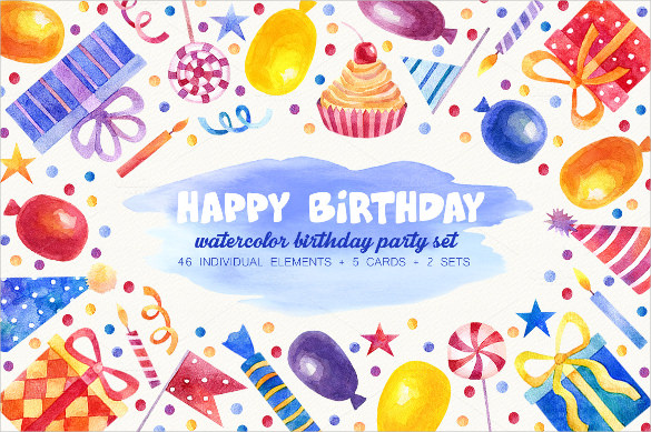 birthday poster design template ; Hats-Birthday-Poster-Template