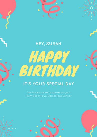 birthday poster design template ; canva-colorful-confetti-birthday-classroom-poster-MACU4ySlN0Q