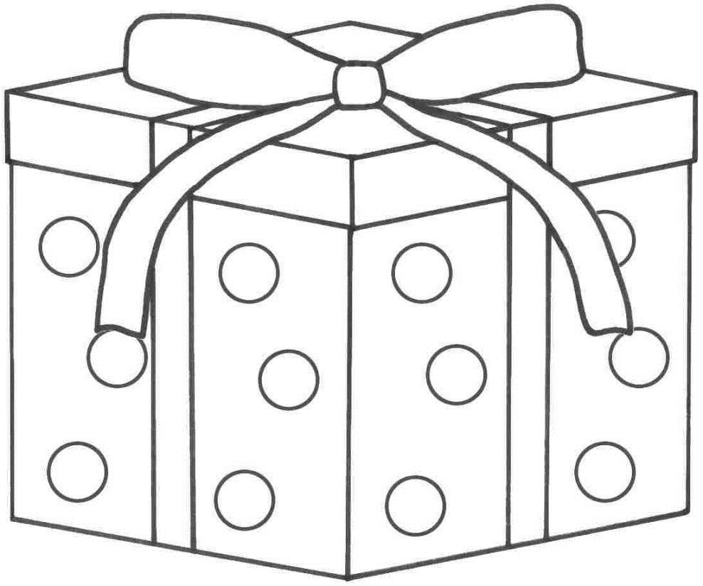birthday present coloring page ; 15-present-coloring-page