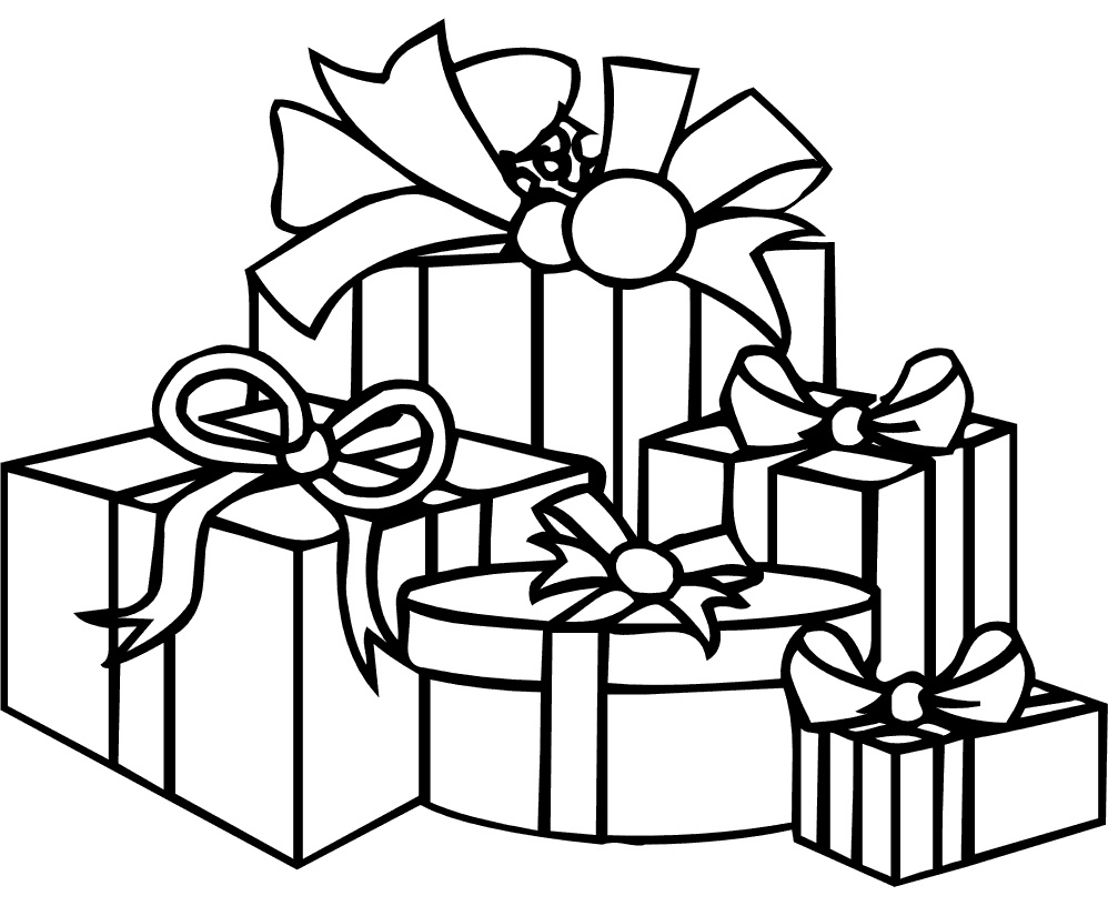birthday present coloring page ; 8-present-coloring-page