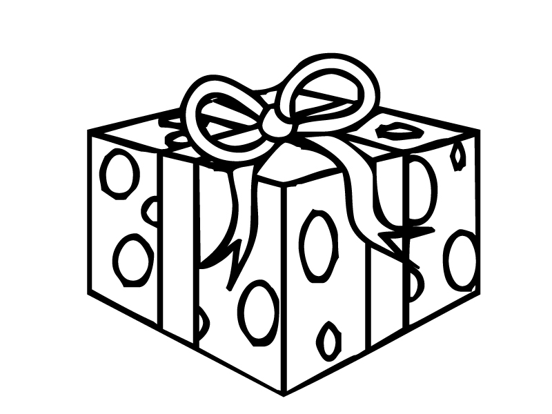 birthday present coloring page ; Present-Coloring-Page