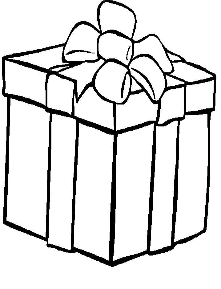 birthday present coloring page ; Printable-Present-Coloring-Page